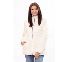 Ванильная женская куртка стеганная на все случаи жизни ОСН401