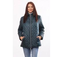 Куртка женская комбинированная бирюзовая ОСН4032