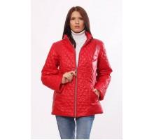 Красная комбинированная куртка женская ОСН4026