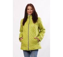 Стильная куртка стеганная цвета лайм ОСН402