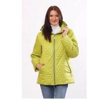 Модная куртка комбинированная цвета лайм ОСН4028