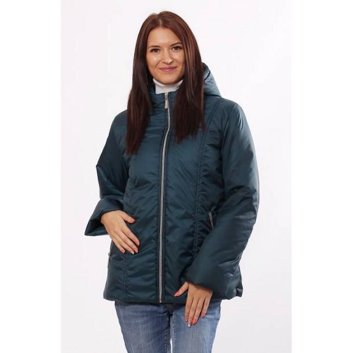 Куртка женская с карманами матовая бирюзовая ОСН4019