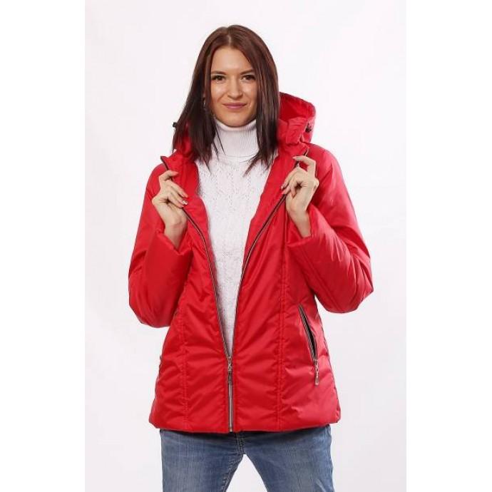 Красная модная куртка матовая с карманами ОСН4016