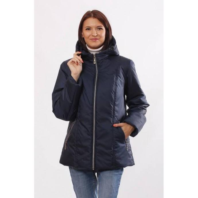 Темно-синяя куртка матовая с капюшоном ОСН4014