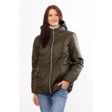 Женская модная куртка матовая цвета хаки ОСН4013