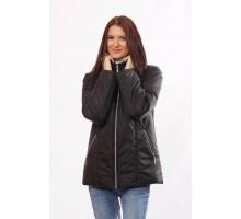 Матовая удобна куртка на синтепоне черная ОСН4015