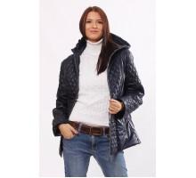 Темно-синяя модная куртка комбинированная ОСН4029