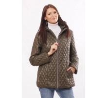 Приталенная модная куртка стеганная цвета хаки ОСН4011