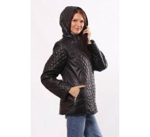 Черная куртка комбинированная на молнии ОСН4030