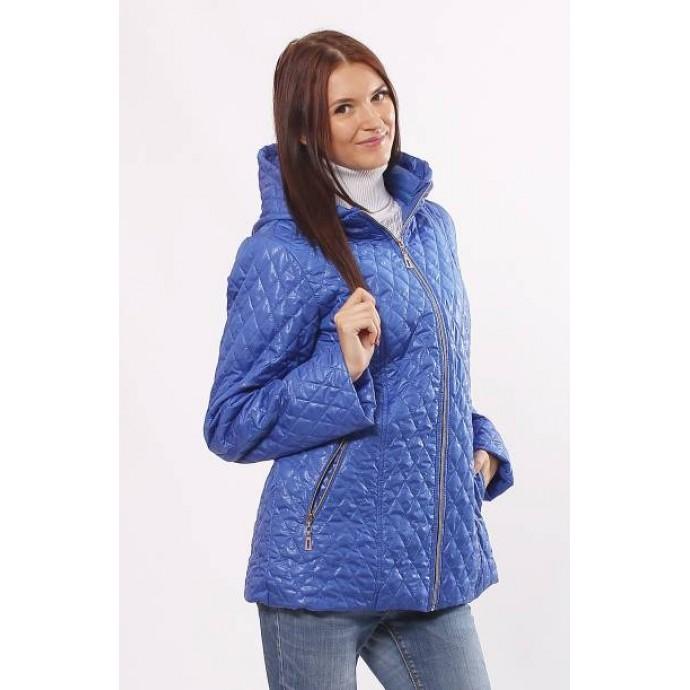 Куртка из плащовки на синтепоне стеганная цвета электрик ОСН406