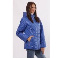 Молодежная куртка комбинированная цвета электрик ОСН4023