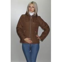 Куртка коричневая матовая с капюшоном ОСН6001-5