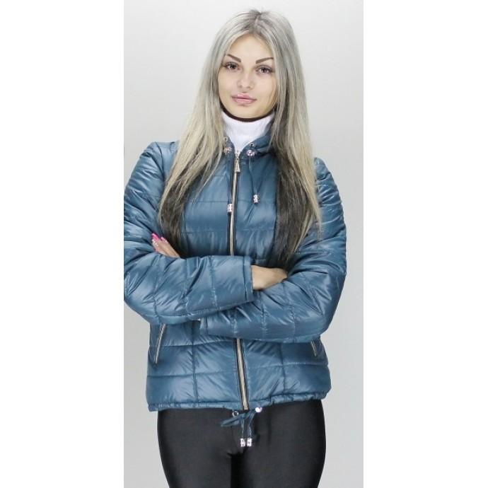 Бирюзовая недорогая куртка на молнии ОСН6001