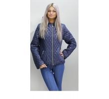 Весенняя темно-синяя куртка короткая ОСН60010