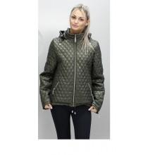 Куртка короткая демисезонная цвета хаки ОСН60011-3