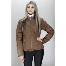 Куртка коричневая женская хорошего качества ОСН60012-2
