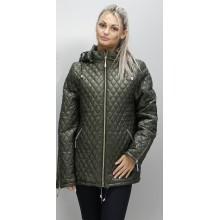 Куртка весенняя карманы на молнии цвета хаки ОСН6002-1