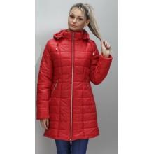 Красная куртка удлиненная весна ОСН6004-2