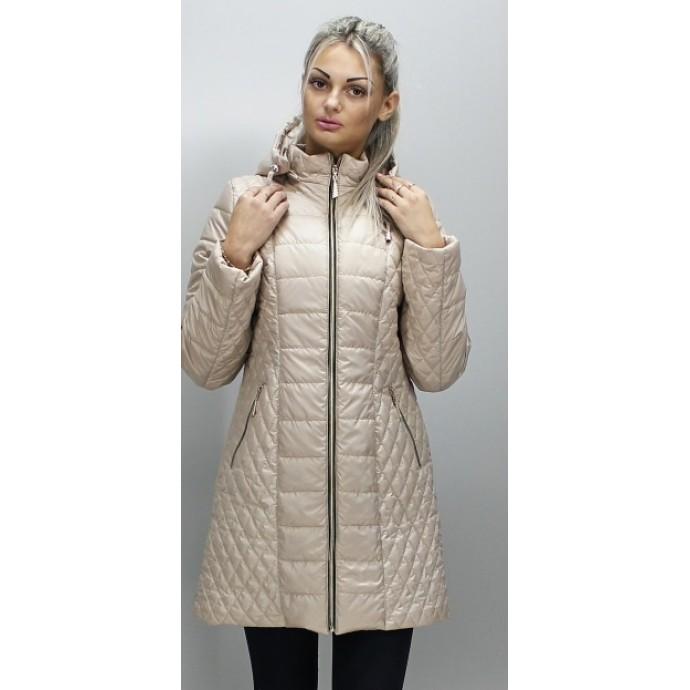 Демисезонная куртка женская бежевая ОСН6005-1