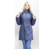 Длинная куртка женская темно-синяя ОСН6005-2