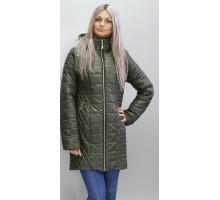 Куртка женская удлиненная цвет хаки ОСН6005-3
