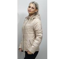 Женская куртка большого размера бежевая ОСН6006-8