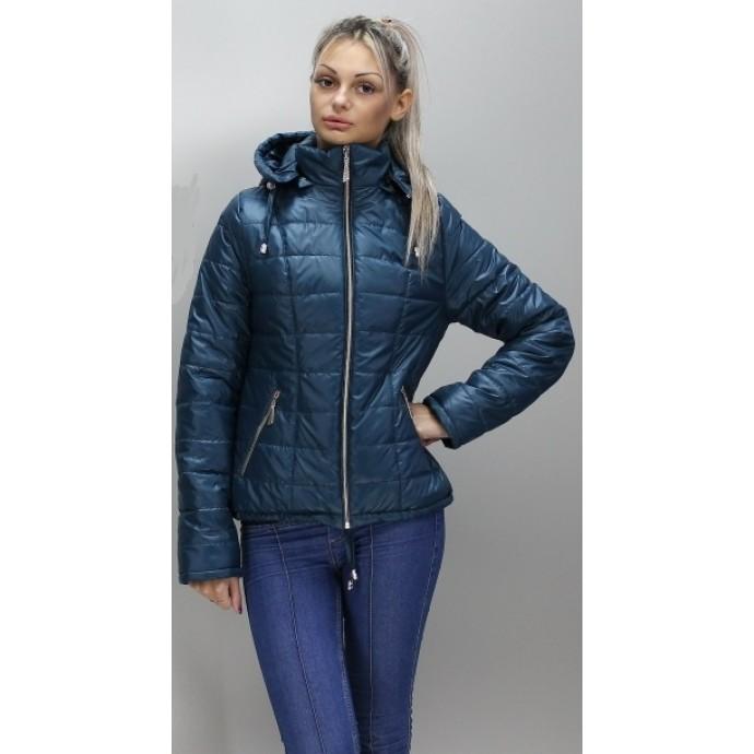 Бирюзовая стильная женская куртка ОСН6006
