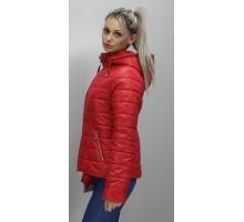 Красная куртка женская батал ОСН6006-2