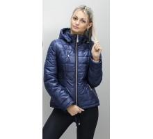 Стильная женская куртка темно синяя ОСН6006-3