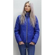 Женская куртка съемный капюшон цвета электрик ОСН6006-5