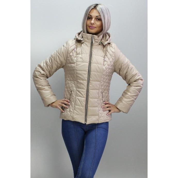 Женская куртка весенняя бежевая ОСН6007