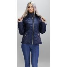 Куртка весенняя короткая темно синяя ОСН6007-2