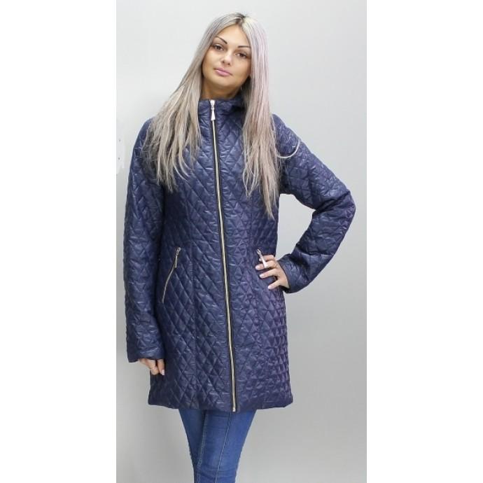 Куртка синяя женская длинная ОСН6008