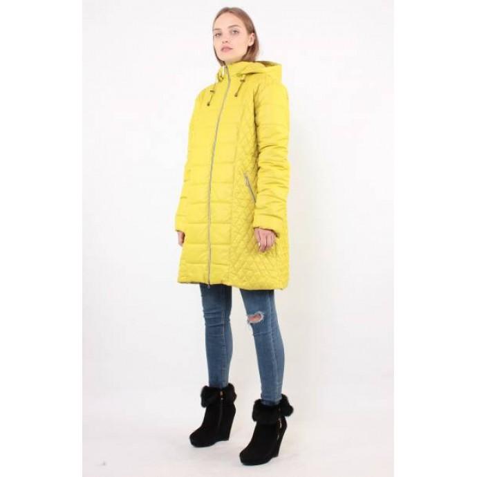 Желтая демисезонная куртка на молнии ОСН6005-8