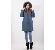 Зимняя куртка женская бирюзовая ОСН77701