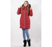 Куртка вишневая зимняя молодежная ОСН77703