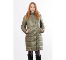 Куртка батального размера  цвета хаки ОСН00017