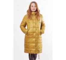 Теплая куртка зимняя горчичная ОСН00015