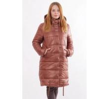 Куртка коричневая стильная зимняя ОСН00013
