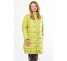 Стильная куртка зимняя цвета лайм ОСН00011