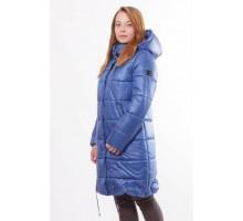 Куртка длинная теплая без меха цвет электрик ОСН00010