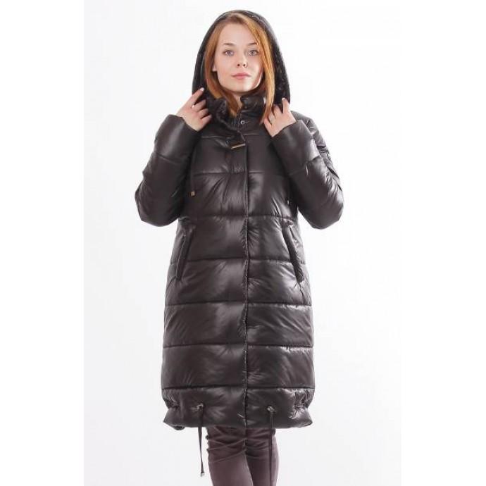 Зимняя куртка женская черная ОСН0007
