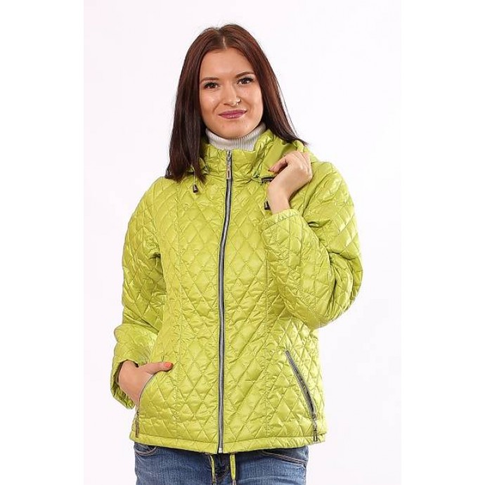 Женская весенняя куртка в цвете лайм ОСН902224
