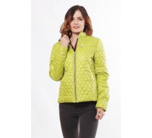 Комфортная куртка женская цвета лайм ОСН902266