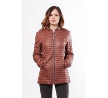 Женская куртка модная коричневая ОСН902259