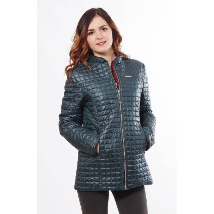 Стильная весенняя бирюзовая куртка ОСН902258