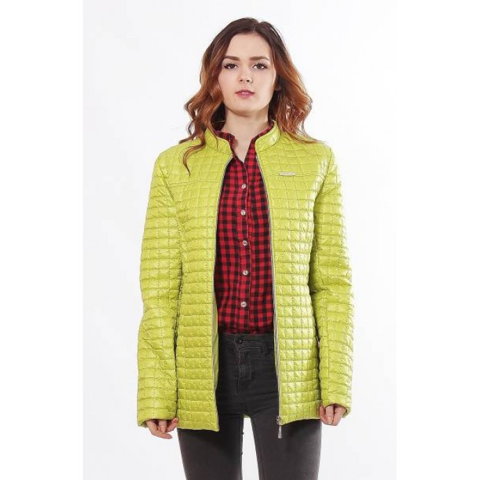 Легкая в уходе женская куртка цвета лайм ОСН902253