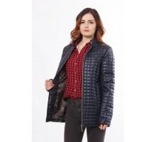 Темно синяя женская куртка без капюшона ОСН902252
