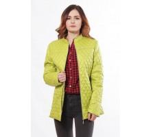 Куртка женская с воротником стоичка цвета лайм ОСН902279