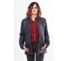 Стильная весенняя куртка женская темно синяя ОСН902272